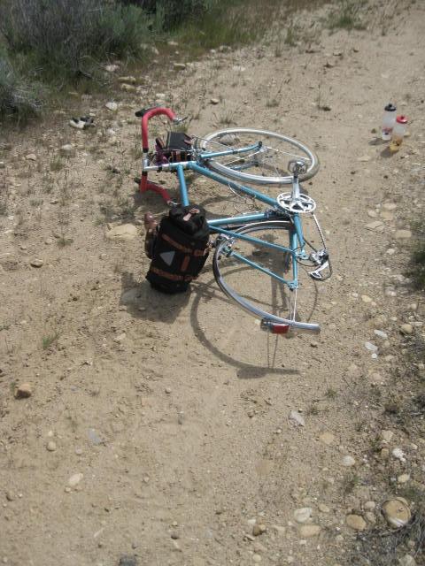Trail side flat repair