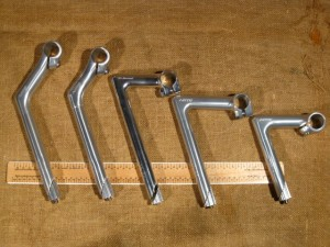 Photo of 4 models of quill stem