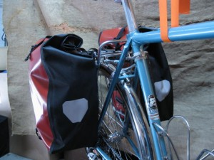 Ortlieb Back Roller panniers mounted on rack