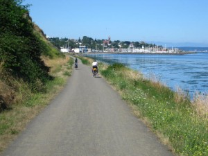 coming into Port Townsend on the bike path