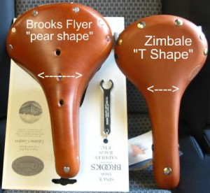bike saddle shape