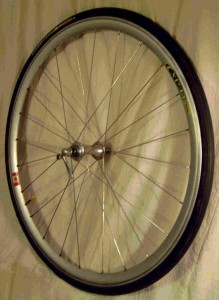 a front bicycle wheel
