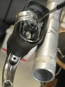 cut clamp on brake lever