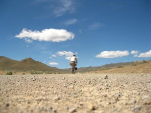 riding in the high desert