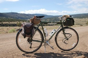 Loaded LHT with two-legged kickstand