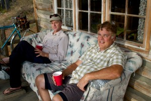 Paul and Jim on couch