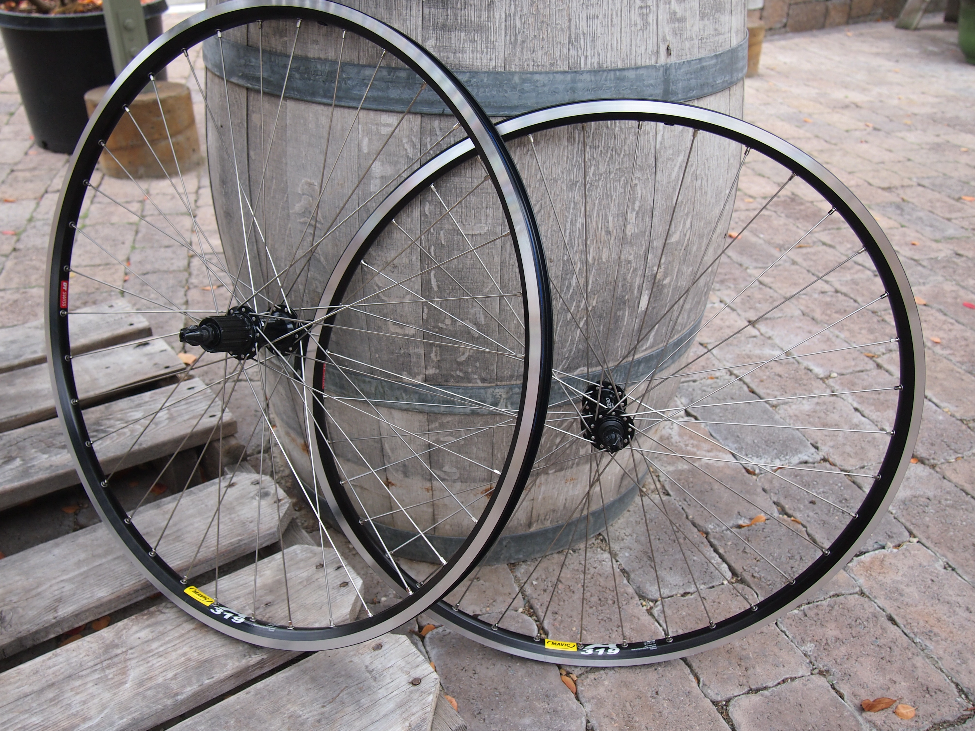 1b2685dfdfe A durable inexpensive wheelset for loaded touring. Shimano Deore hubs laced  to Mavic A319 ...