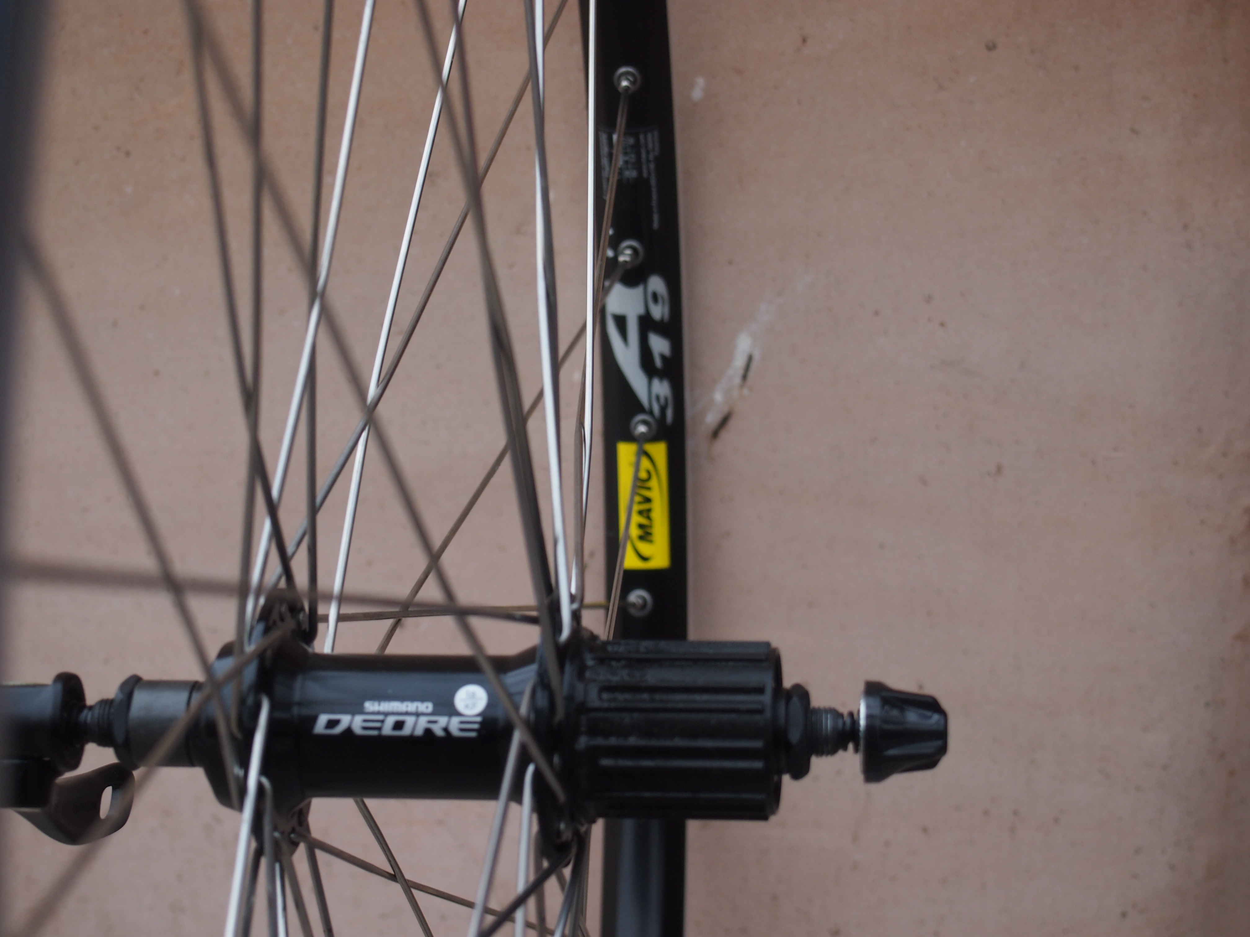 abc6a6df671 Shimano Deore hubs laced to Mavic A319 ...