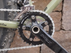 right side of crankset