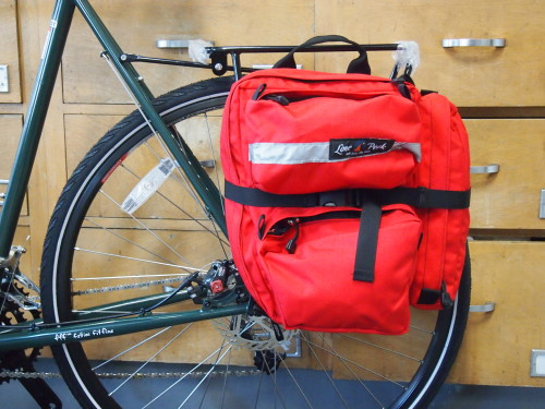 pannier bags on rear rack