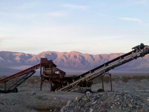 abandoned rock crusher in Death Valley