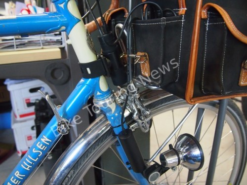 converter and battery on bike