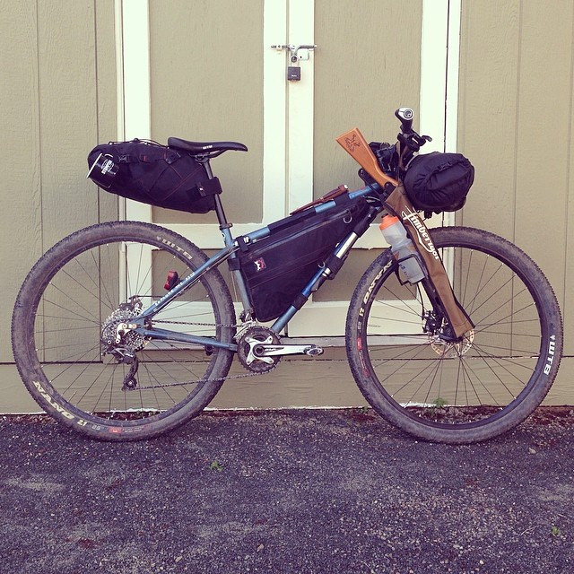 Revelate Viscacha, Ranger Bag and Sweetroll on a Kona 29er. photo by Jason Britton/Velograph