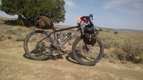 Desert mover; Surly Troll with 2.75 inch Dirt Wizard tires.