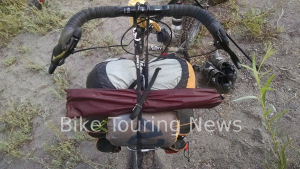 loaded frong bicycle rack