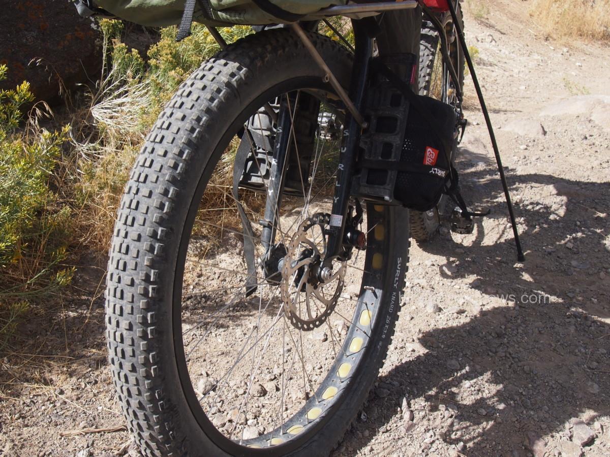 front of bikepacking setup
