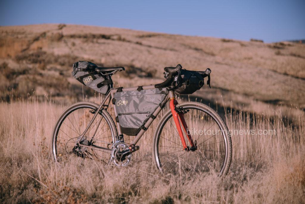 Cyclocross bike kitted up with Apidura bikepacking gear.