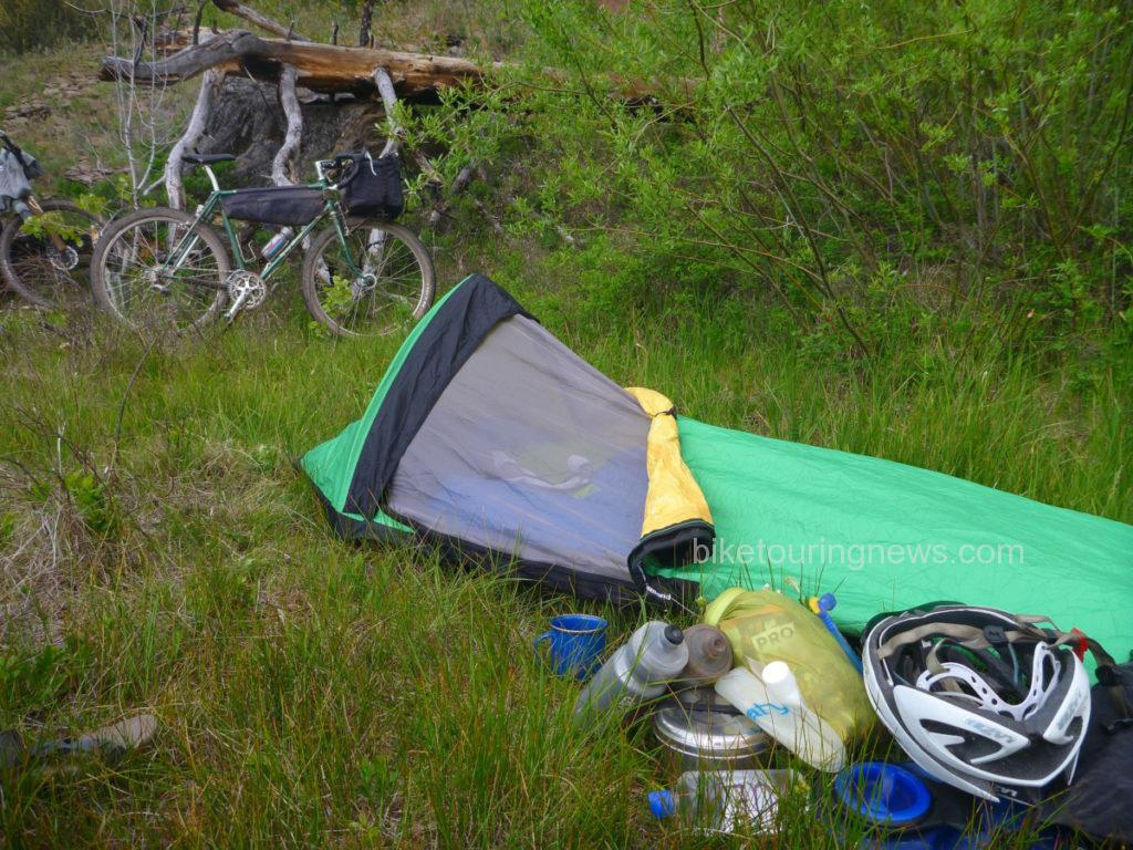 bivy on desert shelter hammock owyhee in opinions touring bike twilight combo bivyintheowyhees the resources author for three campsite planning falls best s bikepacking tips
