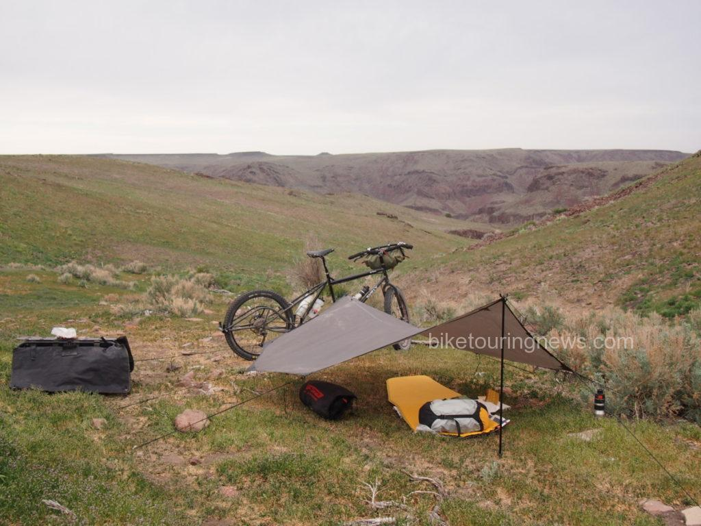 image of bike and tarp